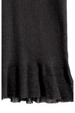 Fine-knit vest top - Black -  | H&M 2